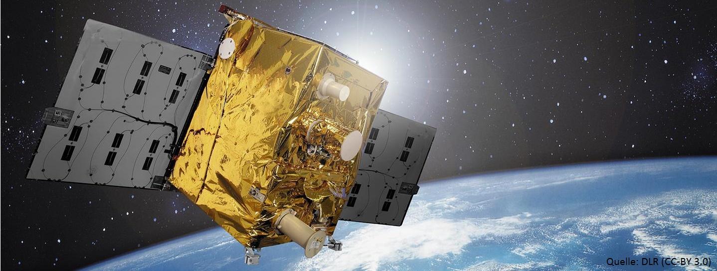 Satellit über Erde (Quelle: DLR (CC-BY 3.0))